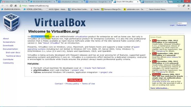 04 VirtualBox ve Kurulumu