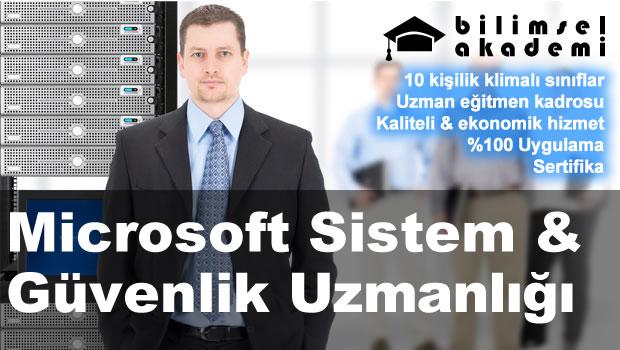 Microsoft Sistem, Ağ & Güvenlik Uzmanlığı Kursu İzmir