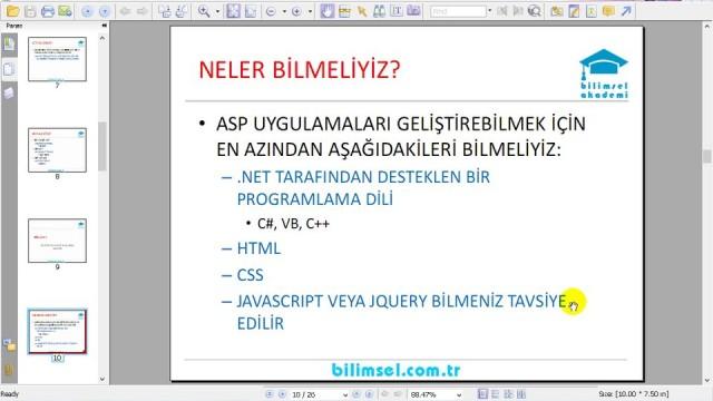 01.02 ASP.NET'e Başlamadan Önce Neler Bilmeliyiz?