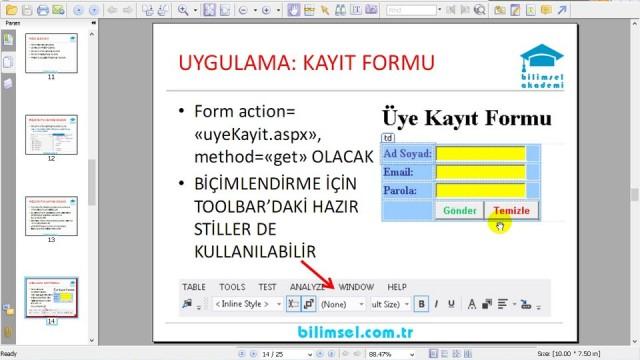 03.06 Uygulama: HTML Sayfası