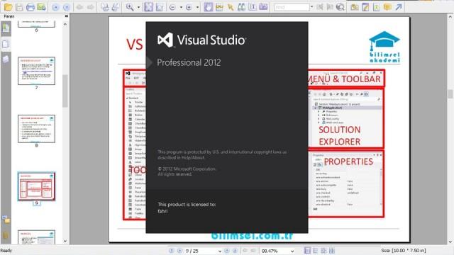 03.04 Visual Studio Arayüzü Bölüm 2