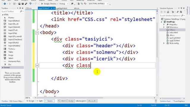 03.09 Uygulama: CSS ile ASP.NET Sayfa Tasarımı