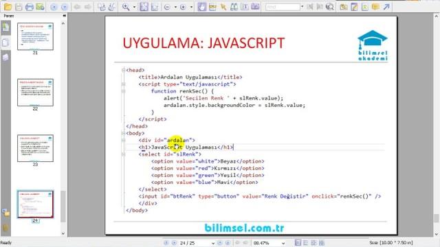 03.10 Projede Javascript Kullanımı ve Javascript Dosyası Oluşturma