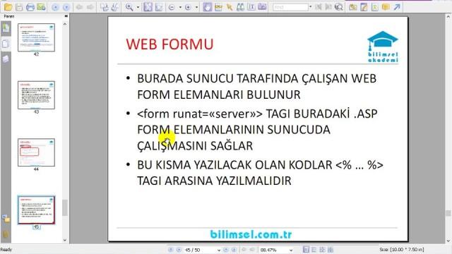 04.06 ASP.NET Sayfa Yapısı