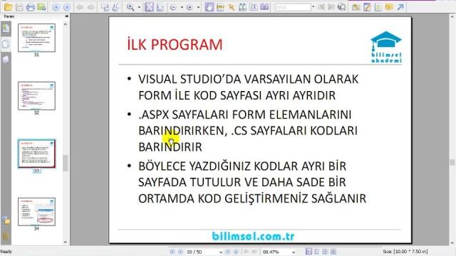 04.05 İkinci ASP.NET Programı