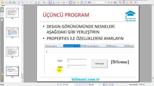 04.08 Uygulama: Üçüncü ASP.NET Programı